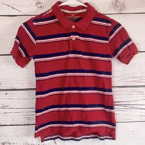RW&B Striped Polo SS Top